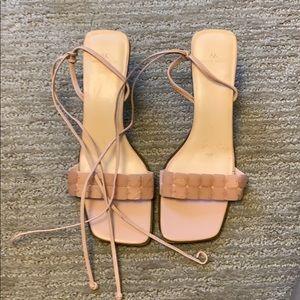 Anne Klein pink espadrille sandals